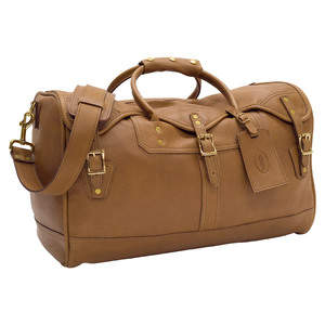 Small Leather Duffel - Camelot