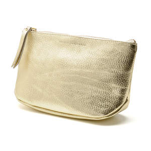 Andrea Brueckner Gold Makeup Bag