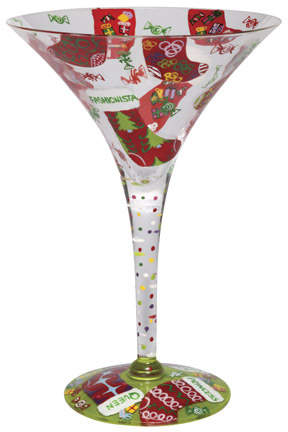 Lolita's Stocking Stuffer Martini glass