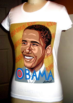 Obama=Change t-shirt by Ambre