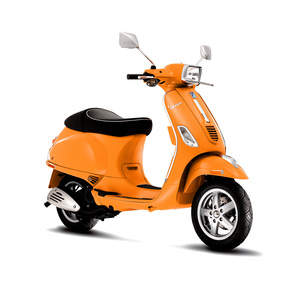 Vespa S 50 in Taormina Orange.