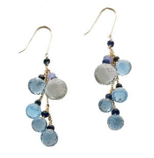 signature drop earrings in ocean