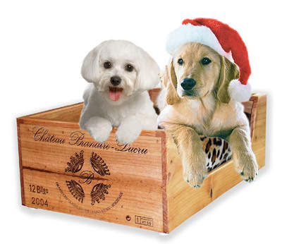 Wooden Wine Crate Pet Bed