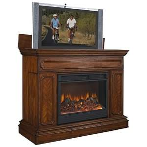 The Remington Fireplace TV Lift Cabinet by ImportAdvantage