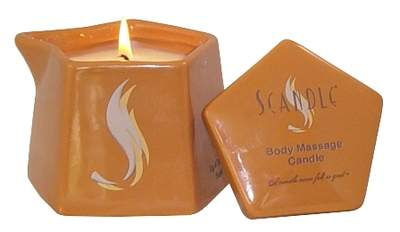 Scandle Massage Candle Ceramic Canister with Pour Spout