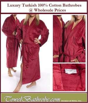 Luxury Turkish Terry Velour Bathrobes for Adults