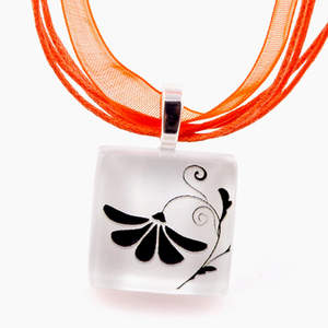 Blossoming - ECO-friendly Glass Photo Necklace by FaniSong