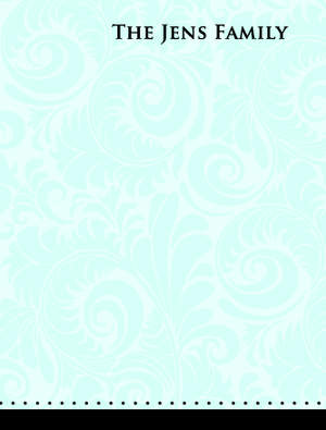 Blue Floral Notecard