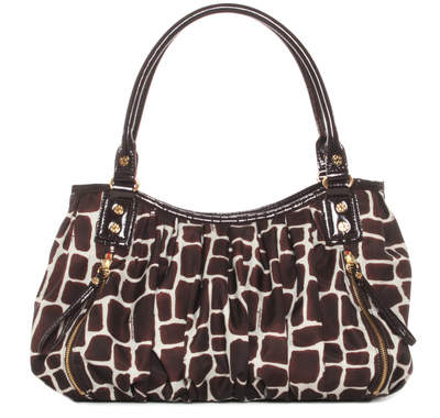 Croc Print with Chocolate Patent - Emma