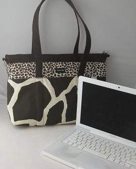 Purse-n-All Expressions Laptop System in Black Retro