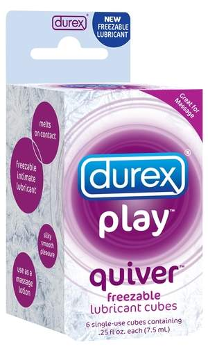 Quiver freezable lubricant cubes are pure skin-tingling silky smooth pleasure packed in a cube. Use them over every inch of the body for icy cool massage or lubrication. Simply, freeze, apply and wait for meltdown...