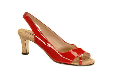 Red patent Chloe with cork insole & heel