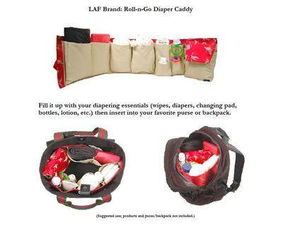 LAF Brand's Roll-n-Go Diaper Caddy