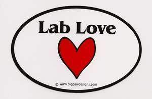 lab love sticker