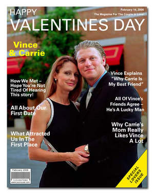 Personalized Valentine's Day Magazine Cover