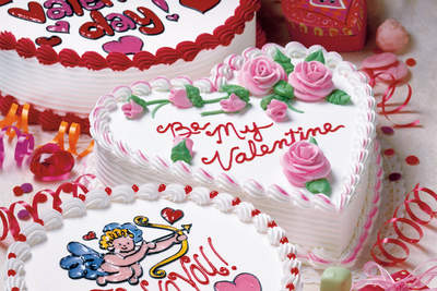 Dairy Queen custom heart-shaped cakes