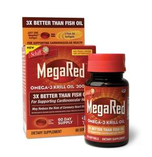 Heart-Healthy MegaRed Omega-3 Krill Oil from Schiff Nutrition