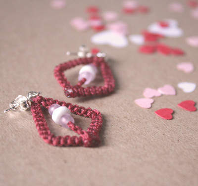 Acute Macrame Earrings