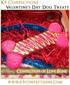 K9 Confections - Valentine's Day Confection of Love Dog Bone