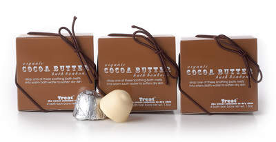 Treat Beauty Organic Cocoa Butter Bath Bon Bons