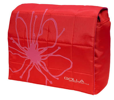 Golla laptop bag, LIV red