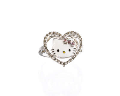 Hello Kitty Sterling Silver Ring