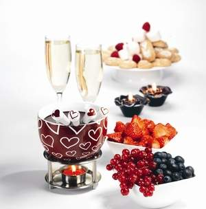 Orka Chocolate Fondue Set - Hearts