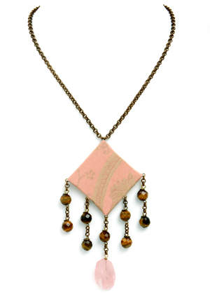 Elegant Beauty meet sophisticated chic meet fashionable edginess. Wear this stunner of a necklace and this could be you!