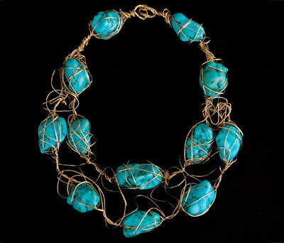 Gold-fill Wire with Turquoise