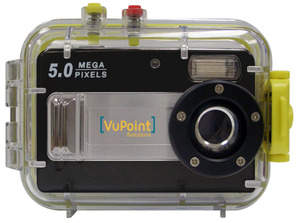 VuPoint Solutions 5.0 MP Waterproof Digital Camera (rear)
