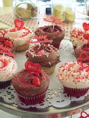 Chocolate and Vanilla Valentine's Day Cupcakes