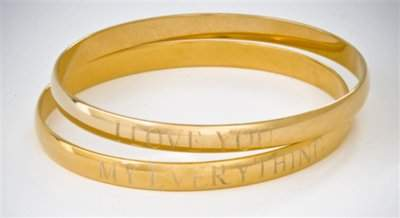Danielle Stevens Engraved Single Bangle