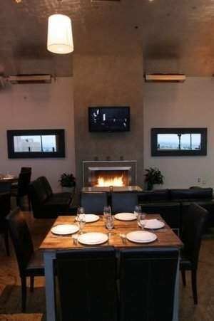 Enjoy a cozy Valentine's Day dinner in front of the fireplace at rise restaurant
