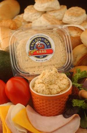 Salads of the Sea® offers a variety of fresh seafood, vegetable and specialty dips, spreads and salads.
