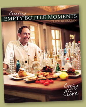 Berkman on the cover of his new book, Creating Empty Bottle Moments - Cooking with Clive.