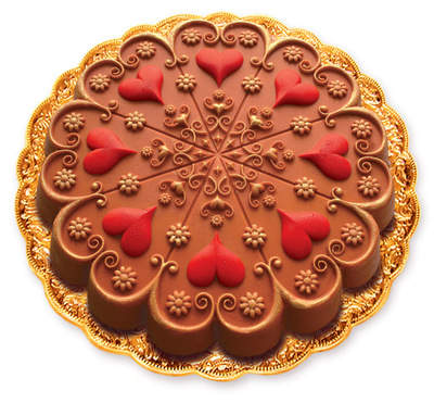 Heart cake made with ZANDA PANDA's Kaleidoscope Heart cake/cookie/craft mold