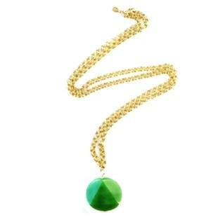 Green Jade Disc Necklace