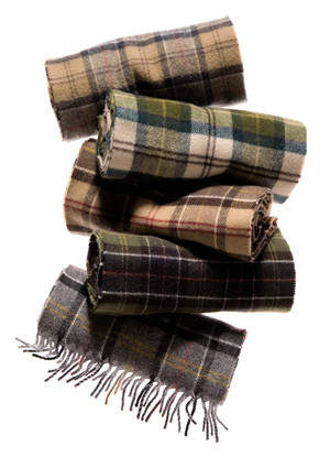 Barbour's signature tartan scarves