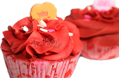 Be My Valentine Bubblebath Cupcake