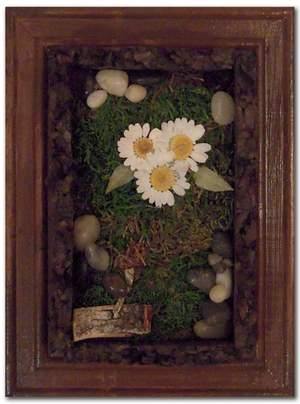Personal Flower Garden, mixed media, by Carla E. Reyes