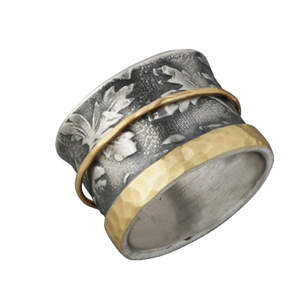Gold Rimmed Spinner Ring