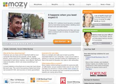 MozyHome Online Backup Service