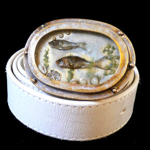 Porthole Goldfish Belt Buckle