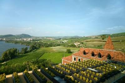 Rooftop view from Hotel of Douro Valley