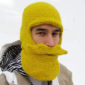 Beard Head Knit Cap (Yellow)