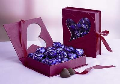 Red Heart Box with Hershey's Bliss Milk Chocolates