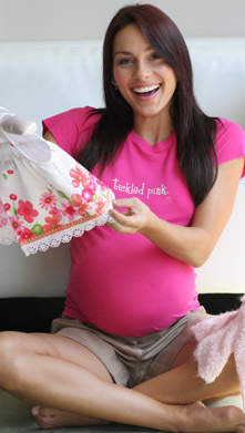 Tickled Pink Maternity Tee by 2 chix.