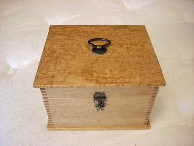 Bird's Eye Maple Figured Wood Box
