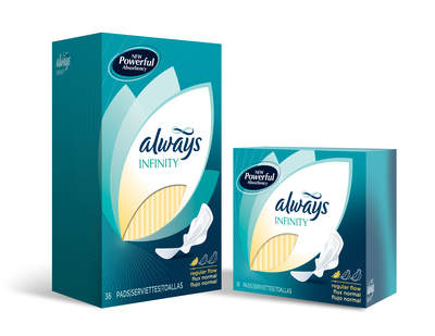 Always Infinity, the biggest innovation to hit the feminine care category in years.