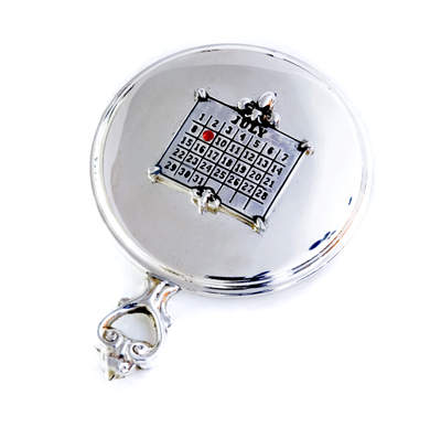 Sterling Purse Mirror